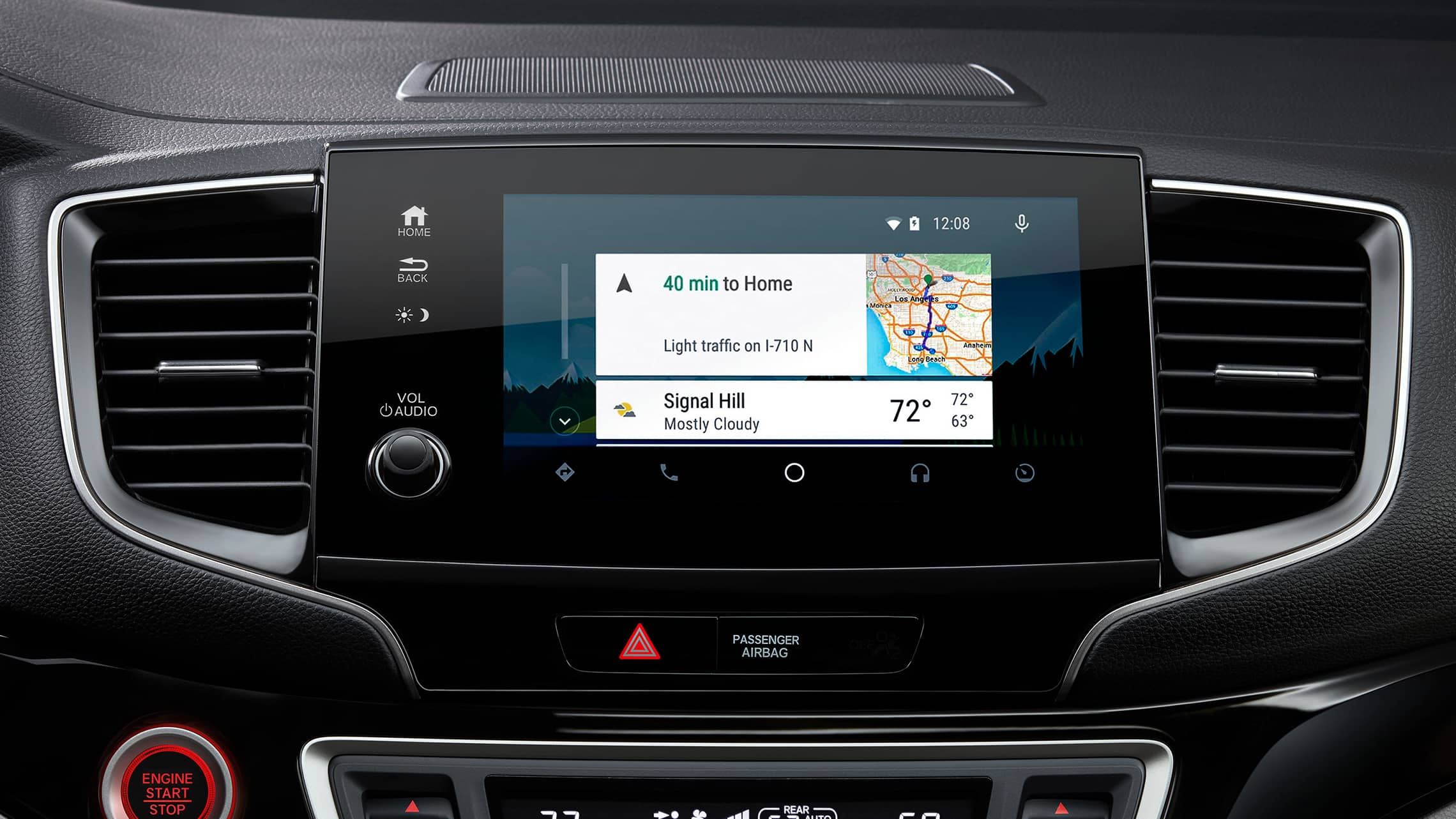 Android Auto™ home screen detail on Display Audio touch-screen in 2021 Honda Pilot Elite.